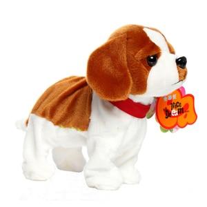 Image 3 - אלקטרוני חיות מחמד שליטת קול רובוט כלבים לנבוח Stand ללכת חמוד אינטראקטיבי צעצועי כלב אלקטרוני האסקי פקינז צעצועים לילדים