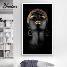Nordic Canvas Painting Wall Art Pictures Prints Black Woman On canvas Home Decor Wall  Print Poster Decoration For Living Room canvas painting wall art pictures prints colorful woman on canvas no frame home decor wall poster decoration for living room
