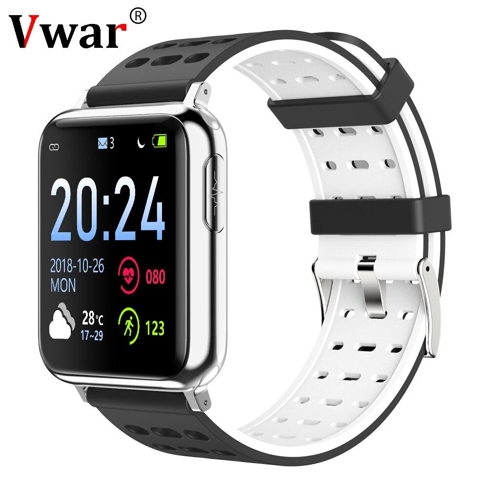 Vwar V5 ECG PPG SPO2 Smart Watch Blood Pressure Oxygen Sport Band Heart Rate Monitor Men