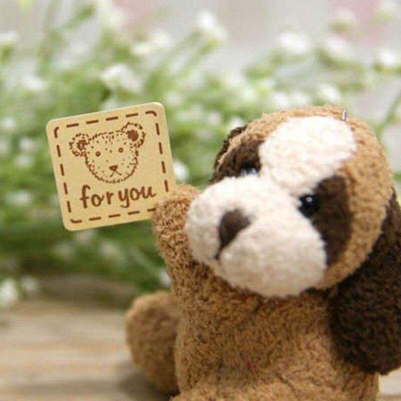 Милый медведь печать наклейка для продуктов ручной работы, для вас клейкая наклейка 2,5 см x 2,5 см 800 шт./партия
