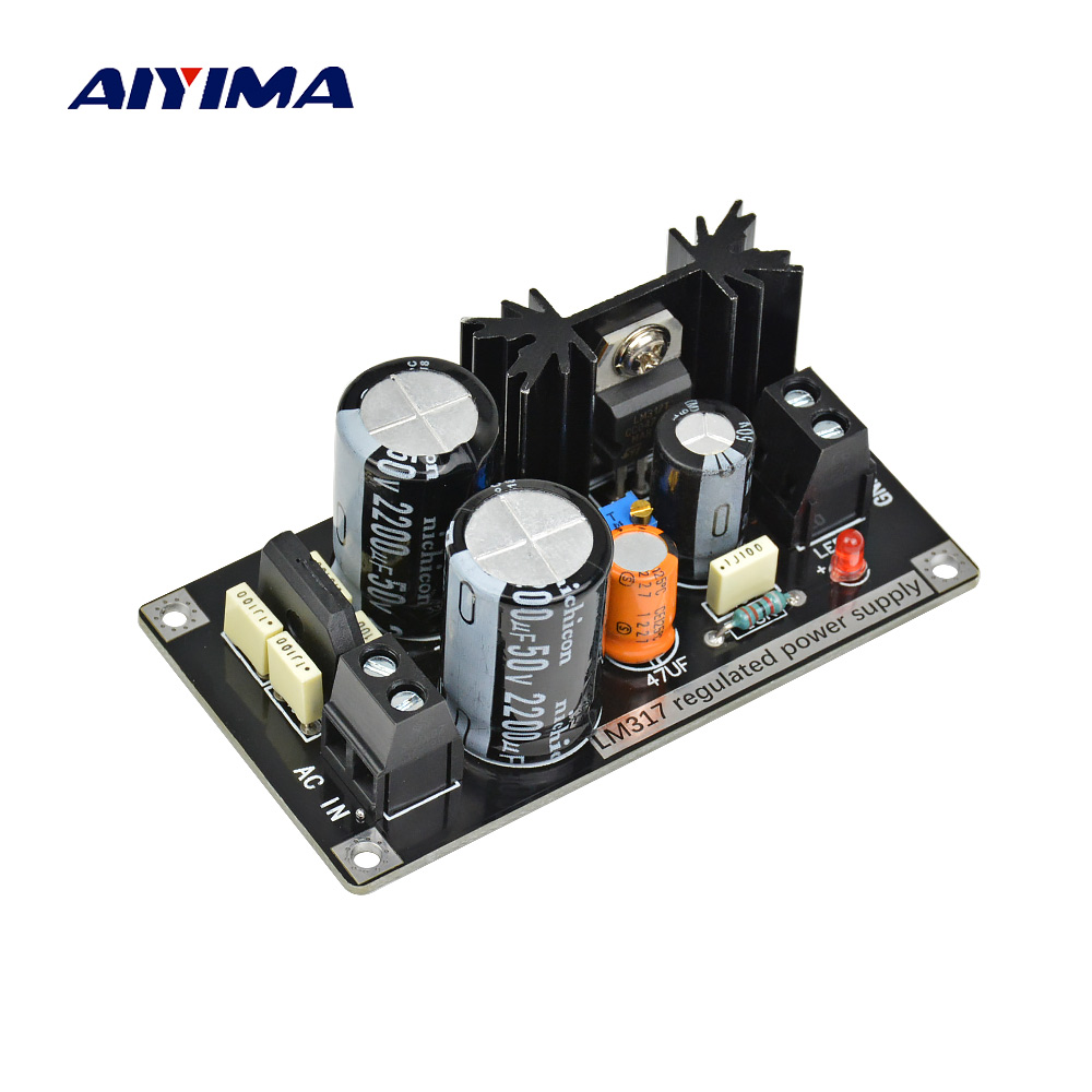 Aiyima LM317 Adjustable Regulated Power Supply Board AC to DC Adjustable Linear Regulator With Rectifier Filter Board lm317 lm317l lm317lz to 92