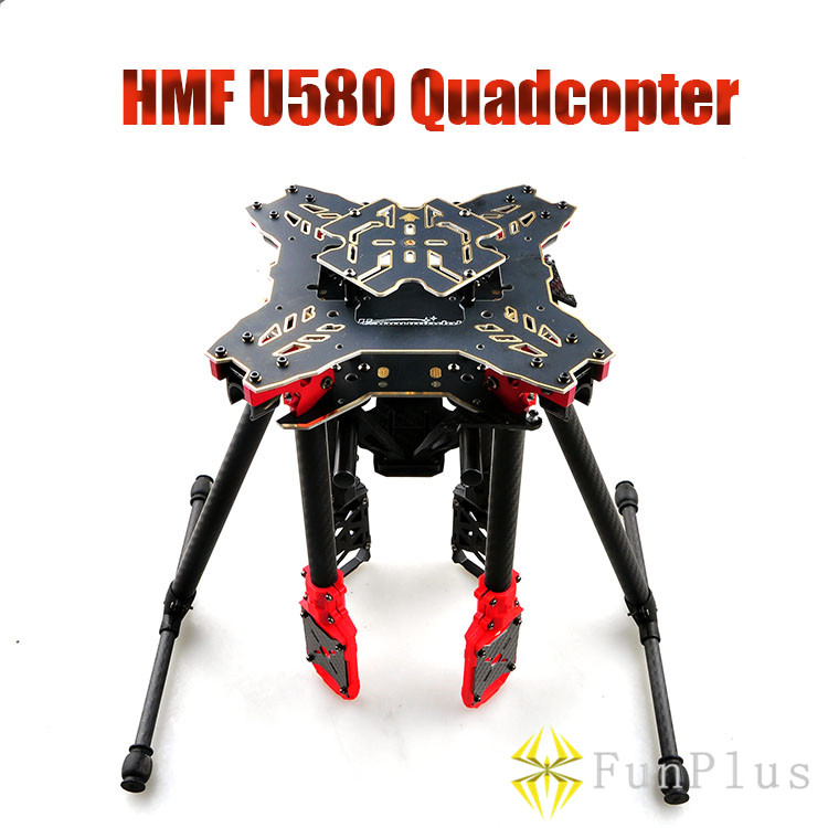 HMF Totem U580 Quadcopter Umbrella Structure Folding Frame with Landing Gear & Gimbal Mount Tube for FPV Photography large double layers folding umbrella windproof rain gear