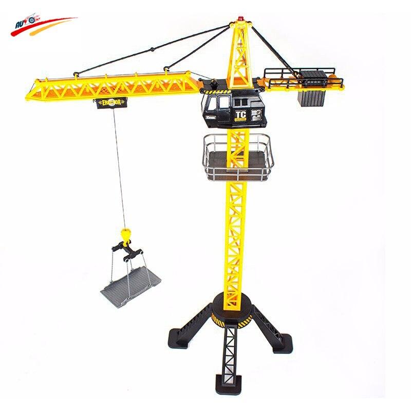 88cm RC Crane Remote Control crane tower 6 Channel Simulation Tower Crane 360 degree Rotate Crane engineer construction Toys