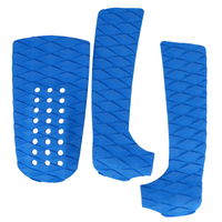 Universal Set Of 3pcs Anti Slip Grooved Surfboard Traction Tail Pads Surfing Surf Deck Grips Surfing