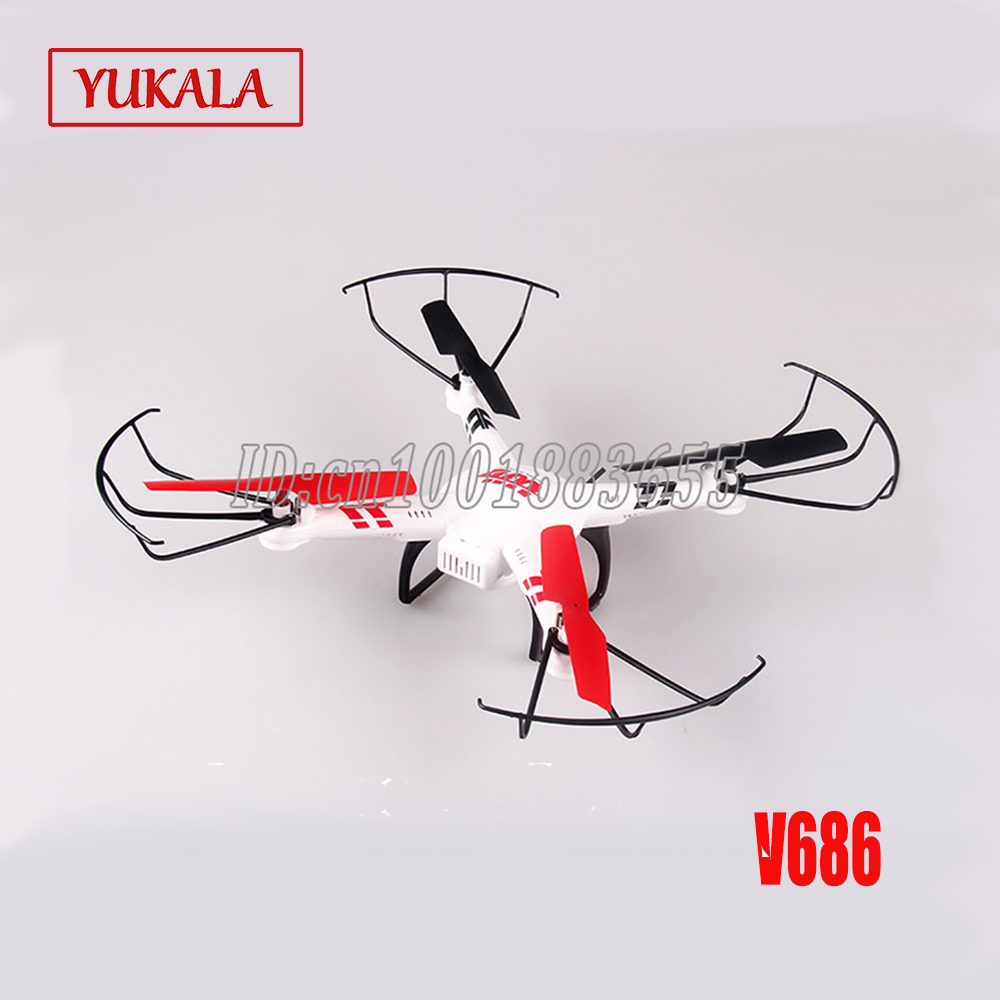 WLtoys V686G V686 FPV Version 4CH Quadcopter RC Drone with HD Camera RTF 2.4GHz Real Time Video Transmission Headless Mode v686g wltoys v686g 4ch 5 8g fpv real time transmission 2 4g rc quadcopter with 2 0mp camera headless mode auto return function us plug