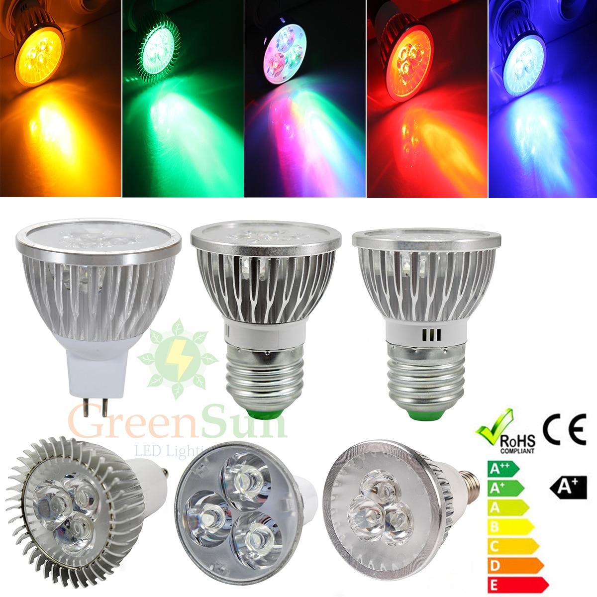 Gu10 Mr16 E14 E27 3w Led Energy Saving Spotlight Light Lamp Xmas Bulb Party Bar Ktv Decorative Light Bulbs