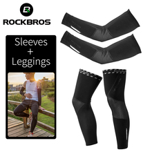 ROCKBROS Breathable Sports Elbow Pads Fitness Arm Covers Basketball Warmers Cycling Running Winter Fleece Warm Sleeves