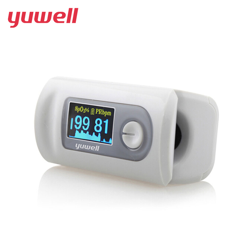yuwell Pulse Finger Oximeter New Portable Pulse Oximeter Blood Monitor Color LED Display Oxygen Saturation Waveform SPO2 PR CE pro f4 finger pulse oximeter heart beat at 1 min saturation monitor pulse heart rate blood oxygen spo2 ce approval green