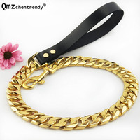 25mm/32mm Exaggerated Heavy Tone Slip Big Dog Cuban Chain Training Choke Strong Pet Traction Practical Leashes Necklace
