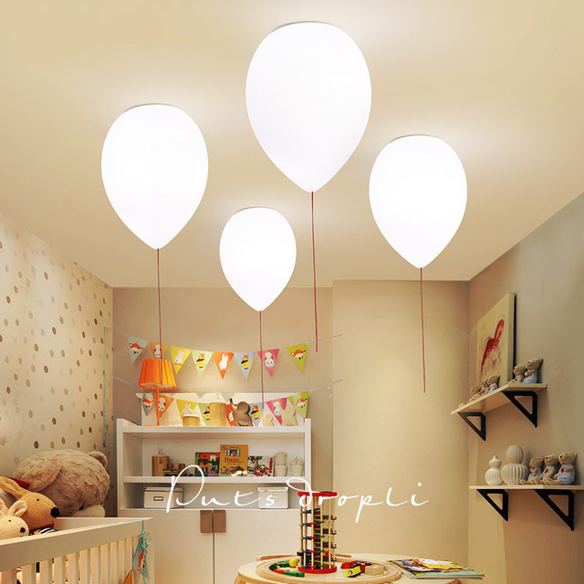 TZ Moderne Ballon Plafond Lumi¨re LED Lampe De Plafond De Couleur