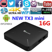 Android 7.1 TV Box TX3 mini Amlogic S905W Quad Core RAM 1GB 2GB ROM 8GB 16GB WiFi 2.4G Smart IPTV Box
