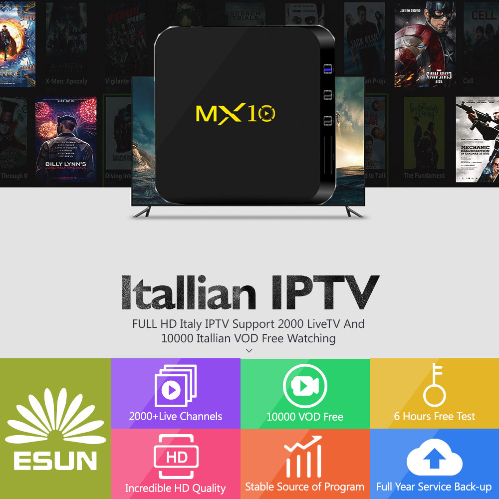 MX10 Italy IPTV Box With 1 Year 4G/32G RK3288 Italy IPTV EPG 4000+Live+VOD configured Europe Albania ex-yu XXX channels BOX italy iptv a95x pro voice control with 1 year box 2g 16g italy iptv epg 4000 live vod configured europe albania ex yu xxx