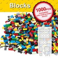 Hot Color 1000 Pcs Base Building Blocks DIY Bricks Creative Toys For Child Educational Block Bulk