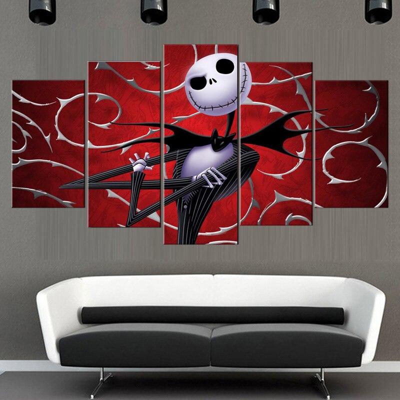 Enmarcado 5 unidades abstracta Navidad serie Eve paisaje lienzo ...