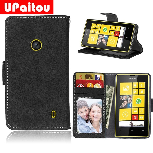 100% authentic 66e39 dbff5 US $4.99 25% OFF|UPaitou Retro PU Leather Case For Microsoft Lumia 520 525  Vintage Wallet Case for Nokia Lumia 525 Flip Cover Inner Soft TPU Case-in  ...