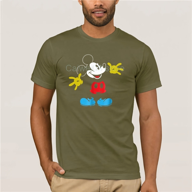 Men Excited Mickey Mouse T...