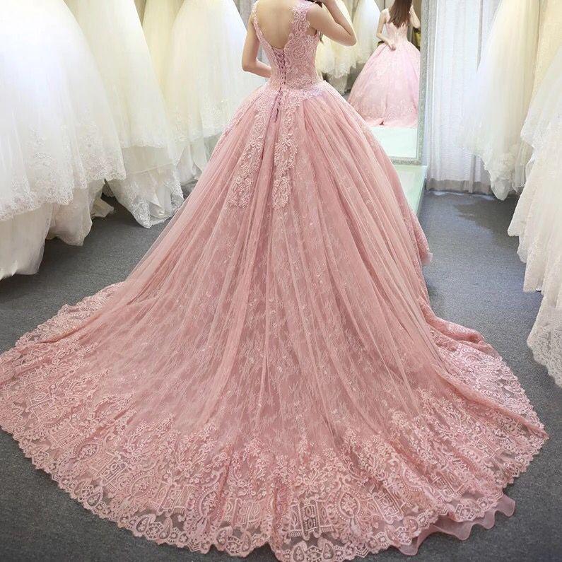 Katristsis d bola Rosa vestidos de novia vestido de noiva robe de ...