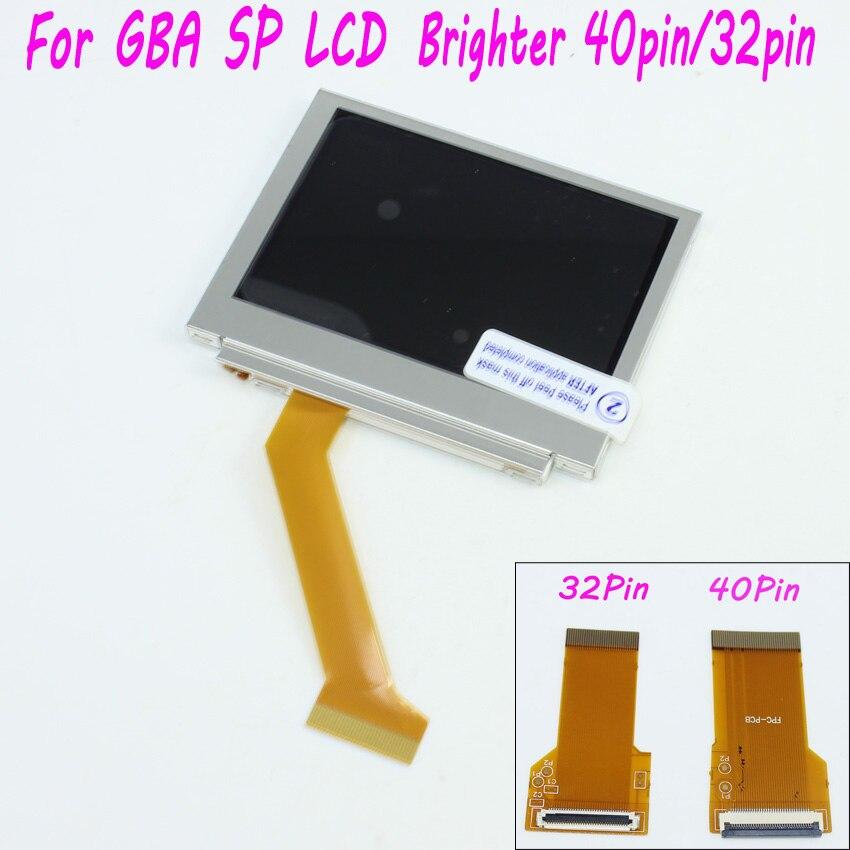 Für Nintendo Für Game Boy Advance SP für GBA SP Bildschirm LCD Hintergrundbeleuchtung Heller Highlight AGS-101 mit 40pin/32pin flachbandkabel