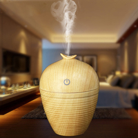 Wood Grain Mini Usb Humidifier Ultrasonic Essential Oil Air Purifier Mist Maker Function Fogger Aroma Diffuser