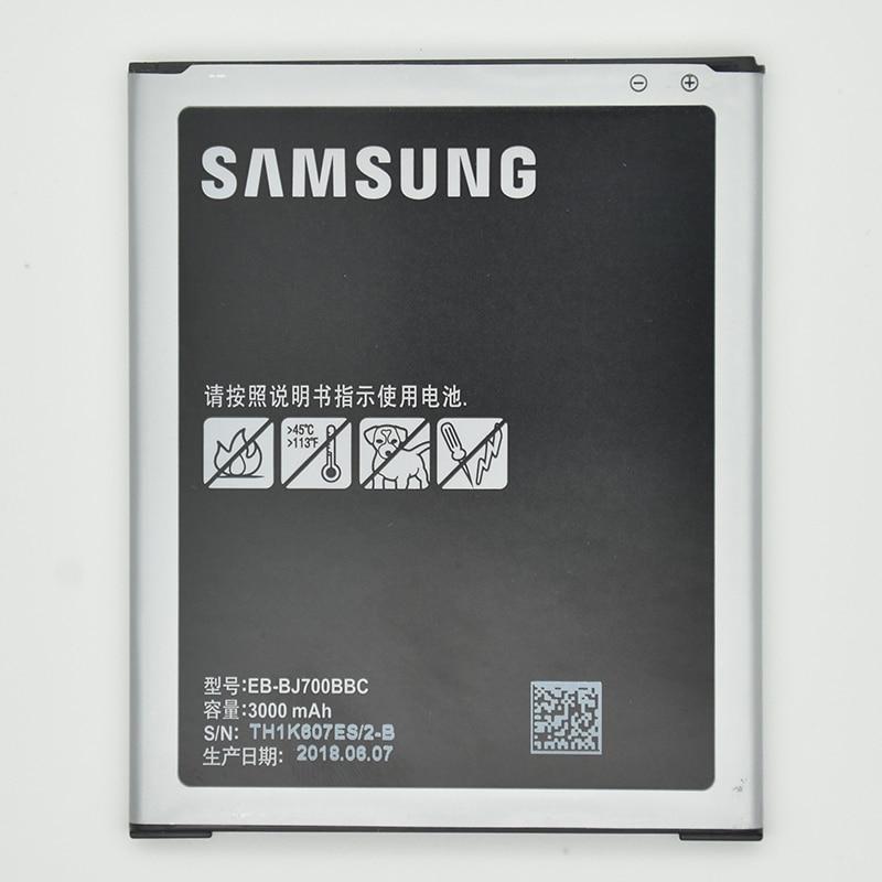 SAMSUNG D'origine de Remplacement Pour Samsung Galaxy J7 EB-BJ700BBC Téléphone Batteries J700 J700F J700P 3300 mah J700M J700H J700T
