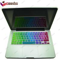 10 stks groothandelsprijs siliconen eu/uk keyboard cover skin voor apple mac macbook air pro retina 11 13 15 17 protecter film gift