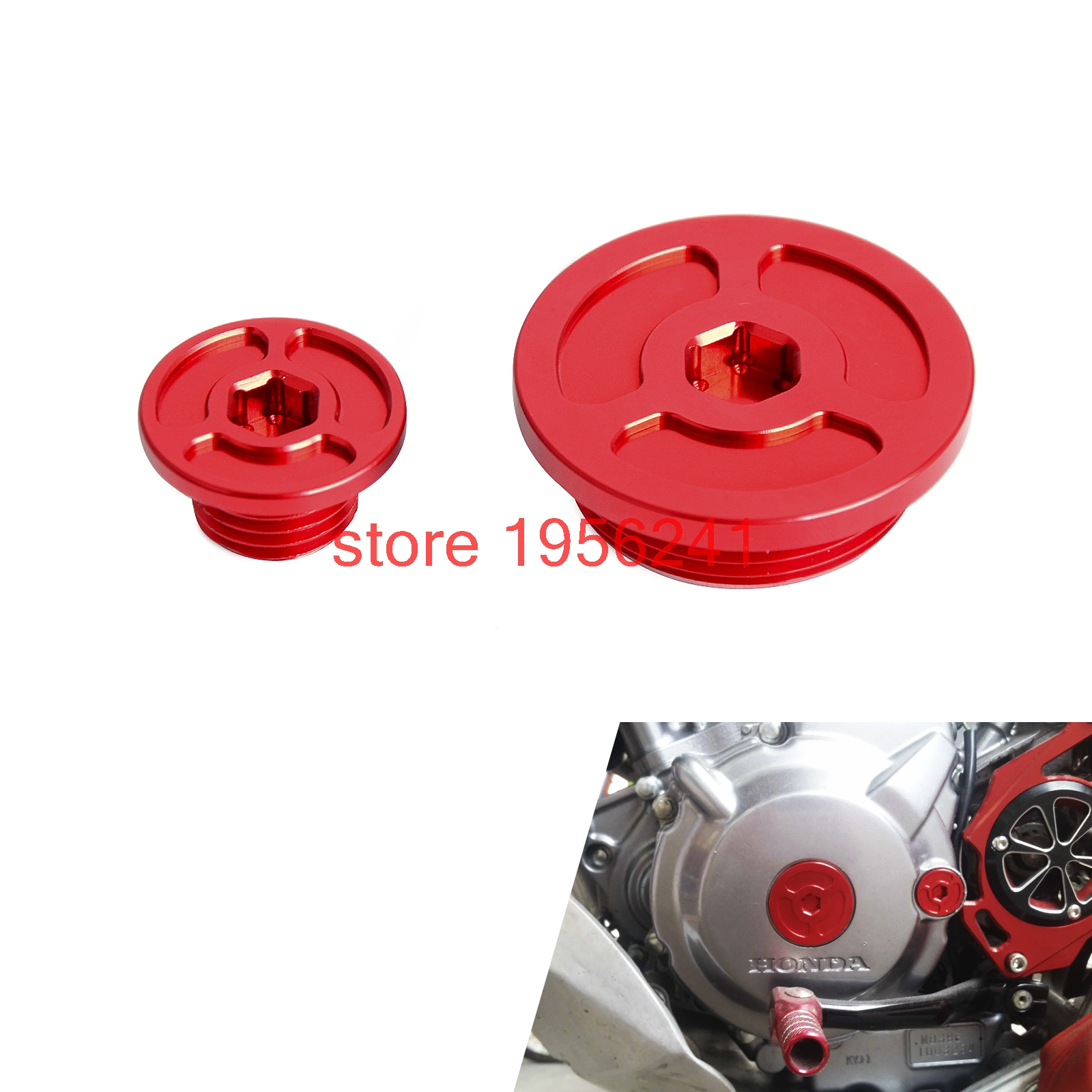 Billet Red Engine Timing Plugs Bolts For Honda CRF250L CRF250M 2012 - 2015 2013 2014 CRF250 L M