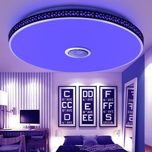 Image 5 - Modern Bluetooth Speaker LED Ceiling Light Remote Control RGB Dimmable Music Lamp Living Room Lighting Fixture Bedroom Smart