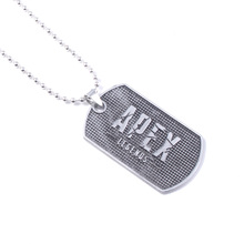 Hot Game Apex Legends Dog Tag Pendant Necklace With Beads Chain Letter Logo Long Necklaces for Men Jewelry Gift цены онлайн