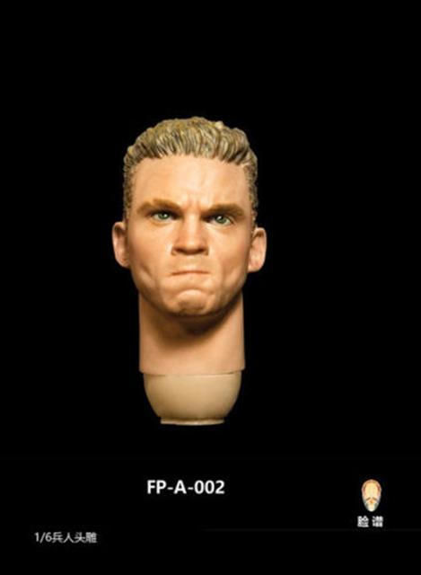 "1/6 Male Head Sculpt with Expression FP-A-002 Angry Head Carving Fit 12"" Figure"