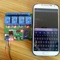12 В 4 Канал Bluetooth Реле Android Мобильный Пульт Дистанционного управления для Двигателя Свет Замок СЕТИ