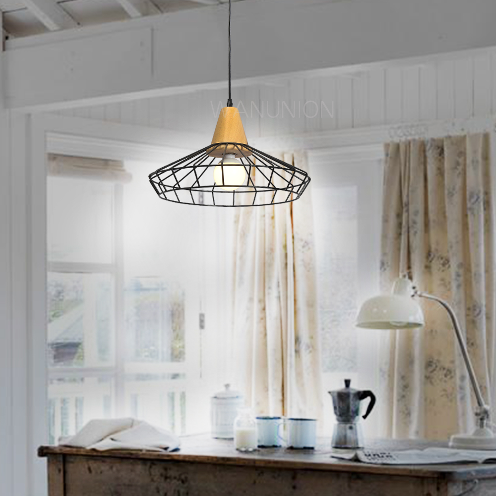 Vintage iron wire bulb cage lampshades hanging lamp holder guard vintage iron wire bulb cage lampshades hanging lamp holder guard shade industrial home light decoration in lamp covers shades from lights lighting on arubaitofo Gallery