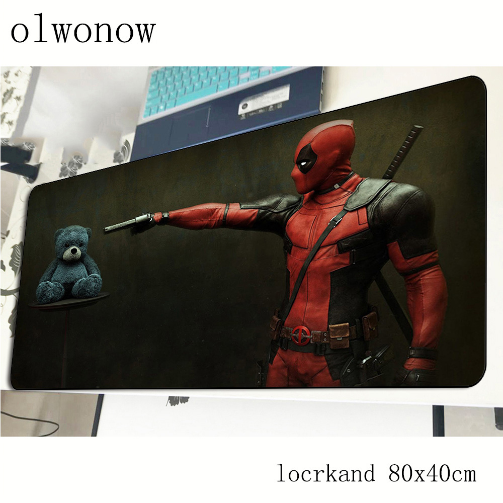 Deadpool <font><b>mouse</b></font> pad 80x40cm 3d mousepads best <font><b>gaming</b></font> <font><b>mousepad</b></font> gamer Mass pattern Fashion <font><b>mouse</b></font> pads <font><b>keyboard</b></font> pc pad image