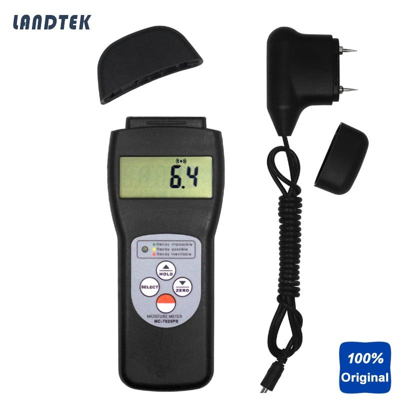 Numérique Portable Testeur D'humidité Bois Humidimètre MC7825PS