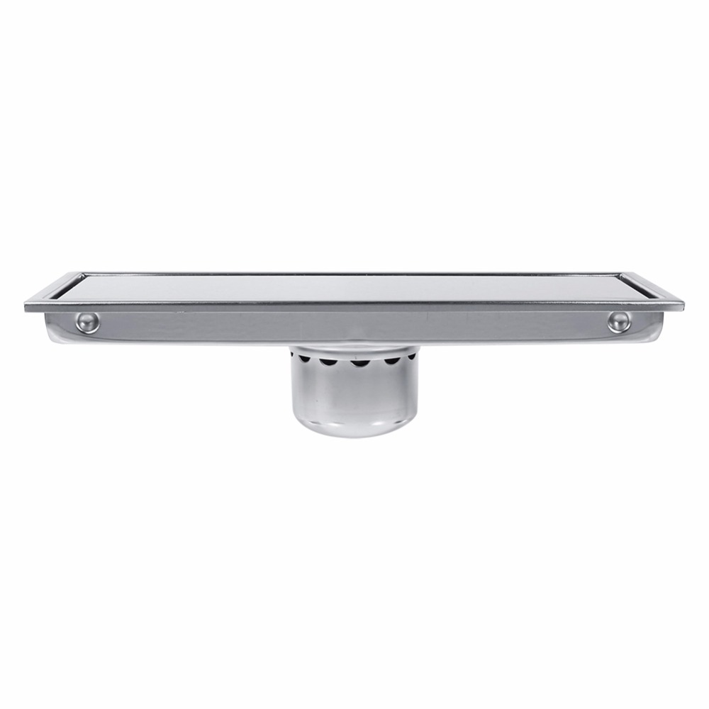 Image 5 - 1 Set Floor Drains Stainless Steel Linear Shower Floor Drains Tile Insert Drain Channel for Bathroom Kitchen Channel Tile Drains-in Drains from Home Improvement