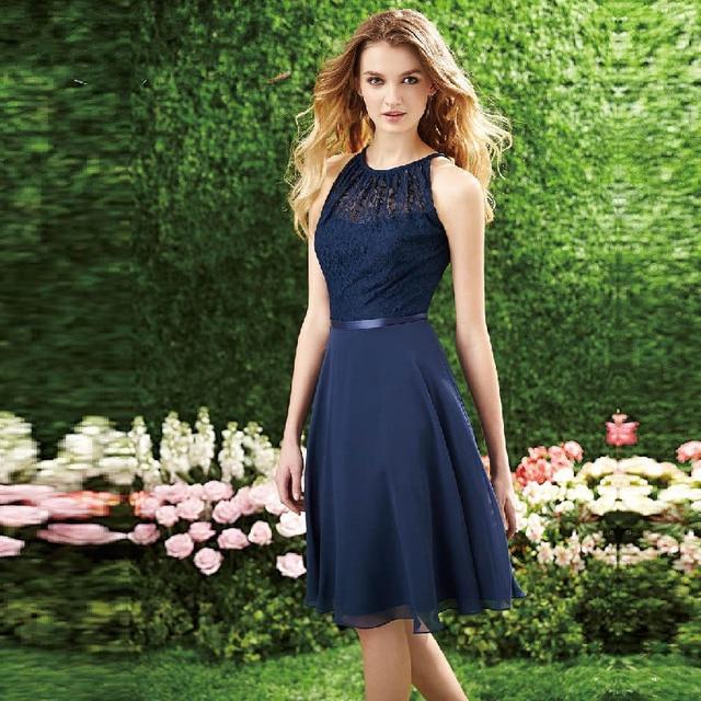 Vestido Corto Color Azul Baratos De Vestidos Dama Marino