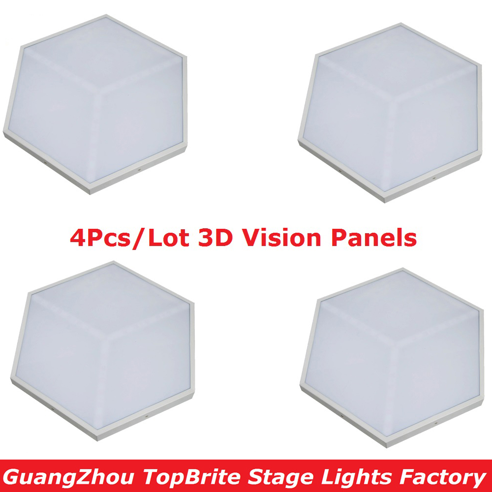 4Pcs/Lot ADJ Unique Design 3D Effect Stage Lights Good Quality 35W 3IN1 RGB 3D Vision Panels For Party Wedding Events Lighting 20pcs lot lm1085is adj