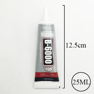 25ml Liquid B-6000 Glue Multipurpose Adhesive For Rhinestone Crystal Jewelry Touch Screen Repair Glass Super Glue Diy Craft