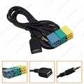 5 pcs 2 em 3.5 MM + USB cabo adaptador de áudio Kia Aux cabo CD para MP3 para Hyundai Kia Sportage # CA3072