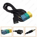 5pcs  2 in1 3.5MM + USB Plug Audio Adapter Cable Kia Aux Cable CD Player to MP3 For Hyundai Kia Sportage  #CA3072