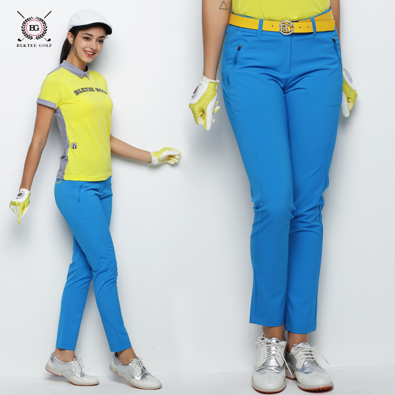 2018 New Women's Summer Breathable Golf Pants Quick Dry Long Trousers Pants Slim Sports Thin Pants With Botton Fly цена