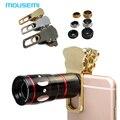 Frete Grátis 4em1 Hot 10X Zoom Telescope Telefoto Grande-angular Macro 180 Fisheye Gato Grampo Universal Câmera de Telefone Celular Lente do telefone