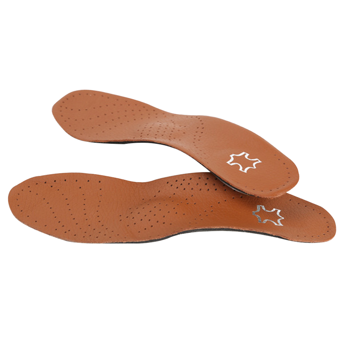 Hot sale PU Leather Latex Orthopedic Insole Antibacterial Active Carbon Orthotic Arch Support Instep Cowskin Flat Foot Shoe Pad