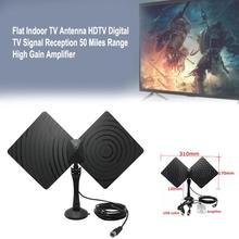 Indoor TV Antenne HDTV Digital TV Signalempfang 50 Meilen Range Amplifier Hohe Qualität Empfänger Innenantennen Verstärker