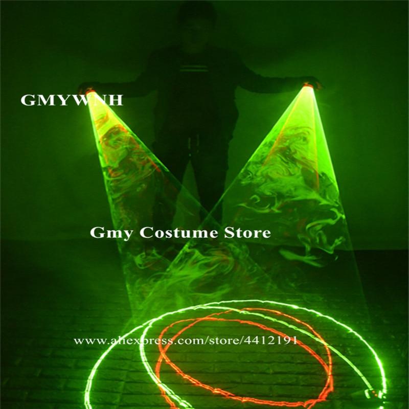 SJ84 Party performance wears dj laser gloves swirl lighted gloves green laser beams bar dance costumes luminous glowing props