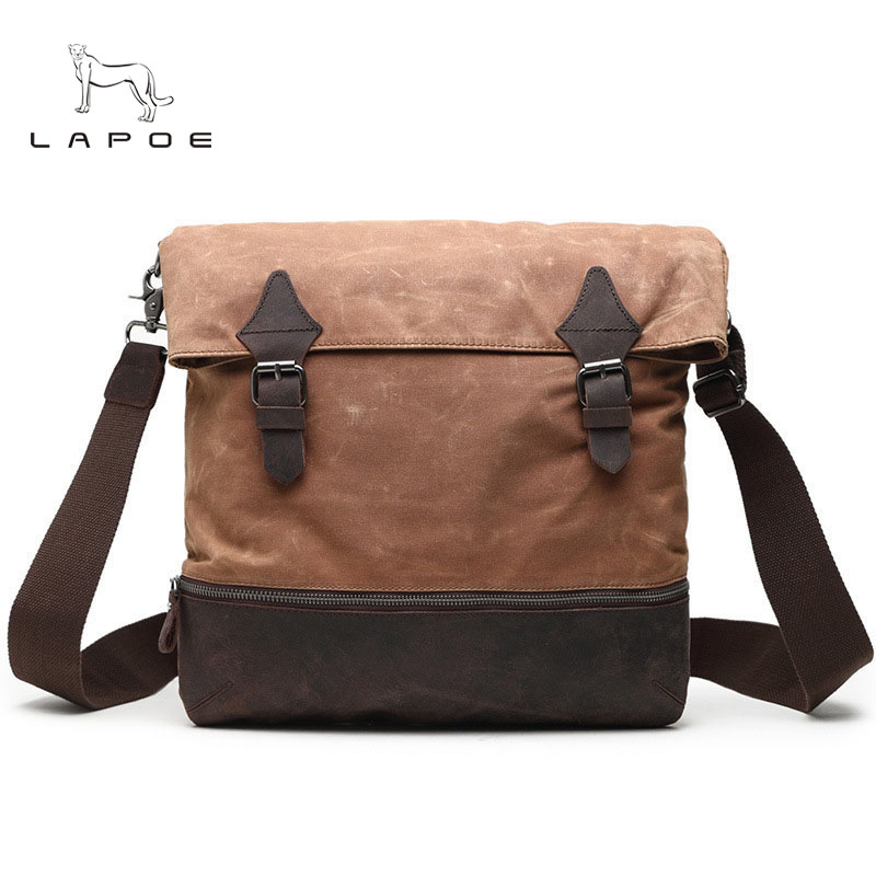 High quality Men's shoulder bags briefcase handbag canvas laptop bags men's messenger bag Vintage Casual Crossbody travel bag canvas leather crossbody bag men briefcase military army vintage messenger bags shoulder bag casual travel bags