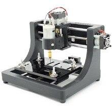 Высокое качество Прочный 1208 3 оси Мини DIY фрезерный станок с ЧПУ для резьбы по дереву PCB фрезерный гравировальный станок лазерный гравер 120x80x16 мм