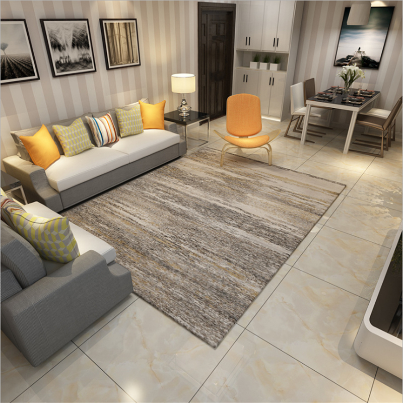 AOVOLL Nordic Simple Geometric Element Abstract Pattern Rectangle Rug Carpets For The Modern Living Room Non-slip Good Care