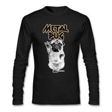punk band Metal Pug T-Shirt customize for Mens Short O Neck Music Dog mens T Shirts Natural Cotton Geek Shirts