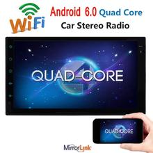 Eincar 7″ Android 6.0  Quad Core Double 2 Din Car Radio Stereo NO-DVD player car styling support GPS OBD2 3G/4G WiFi Bluetooth