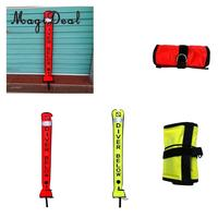 MagiDeal 4ft Reflective Inflatable Safety Sausage (SMB Surface Marker Buoy) Diver Below Signal Tube for Underwater Scuba Diving